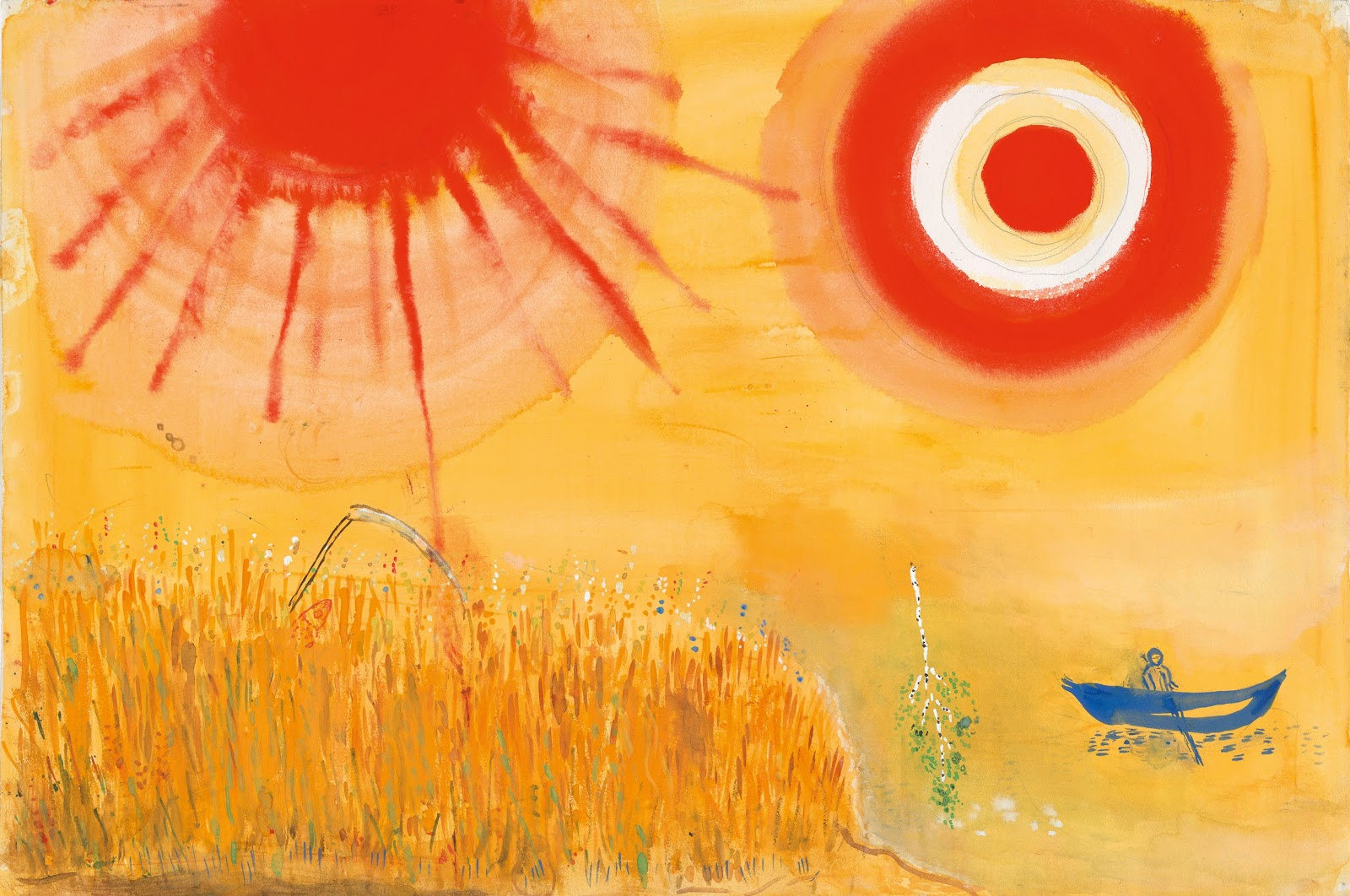 "Aleko- ""A Wheatfield on a Summer's Afternoon,"" 1942 - March Chagall"