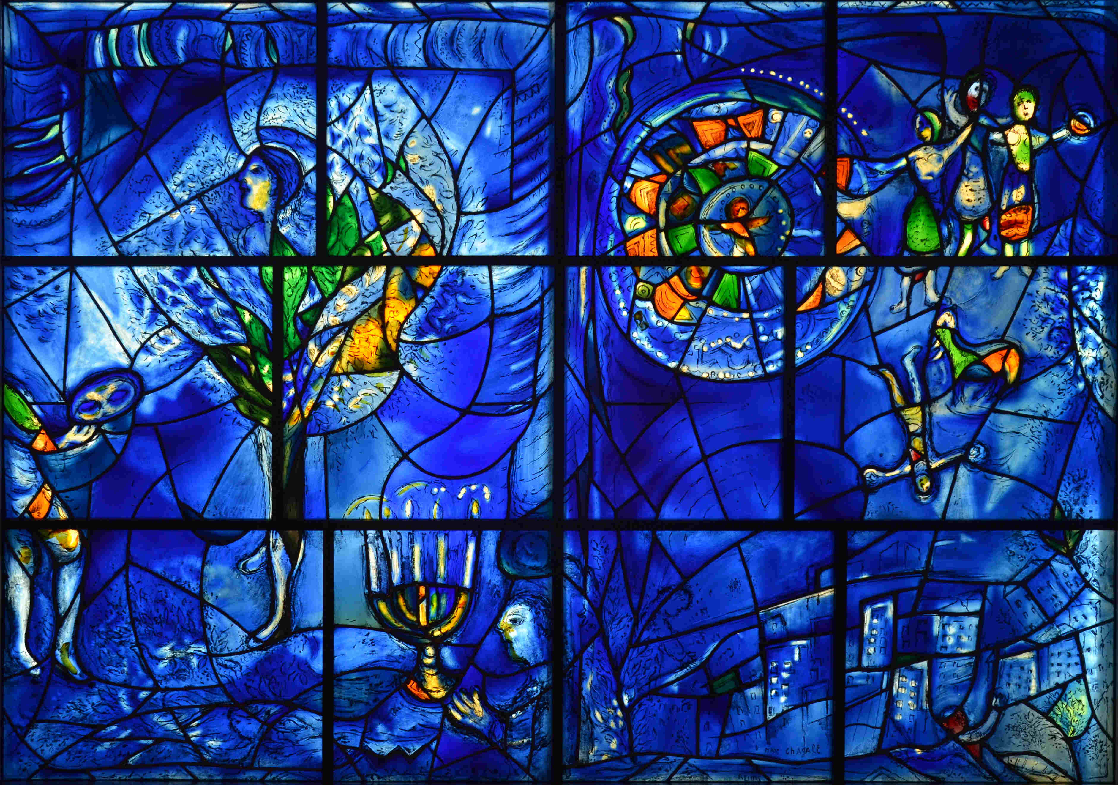 America Windows - Right Panel Religious Freedom Marc Chagall