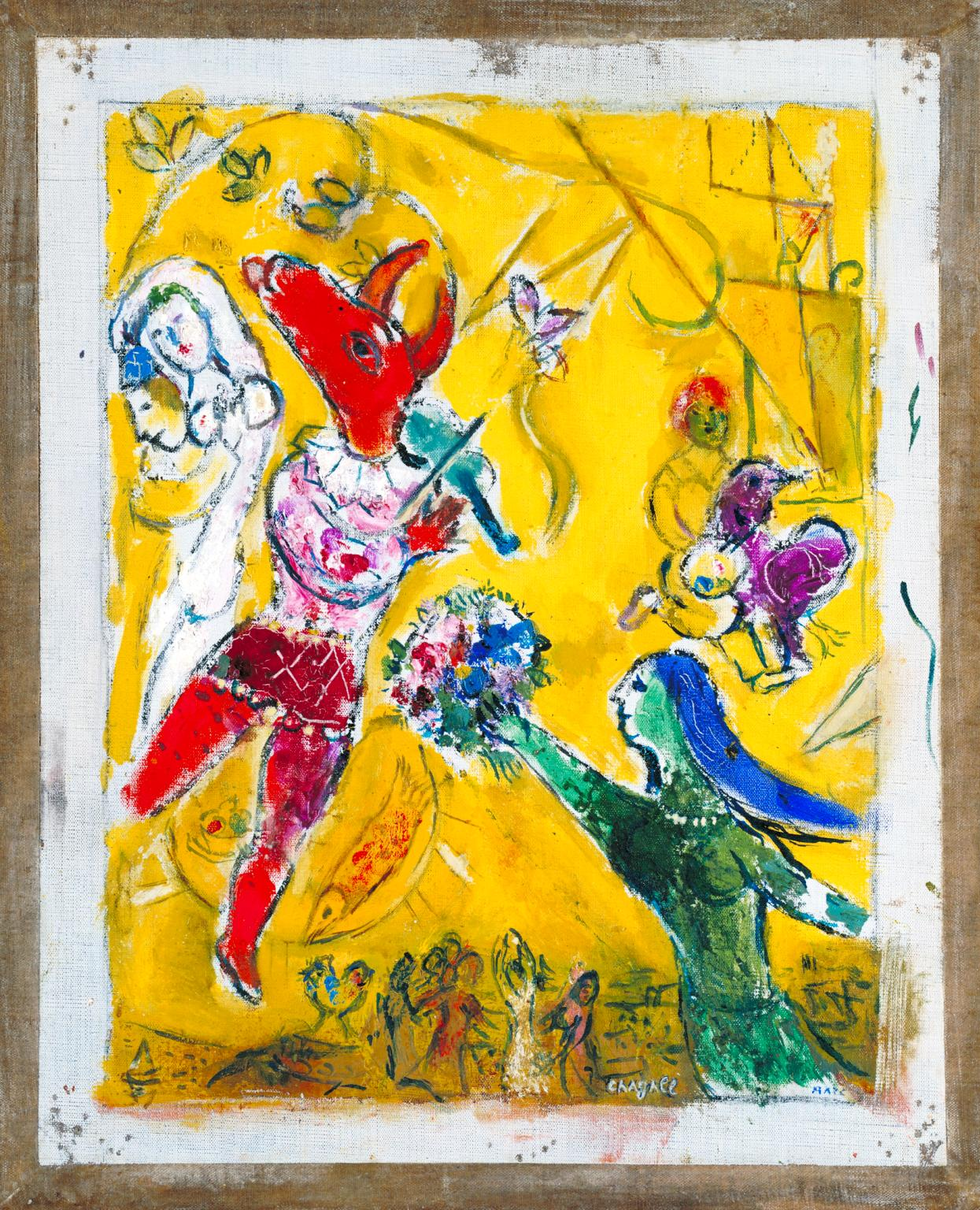 The Dance and the Circus 1950 by Marc Chagall 1887-1985