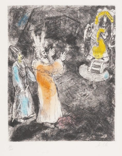 """Moses and Pharaoh"" (1931-39), Marc Chagall"