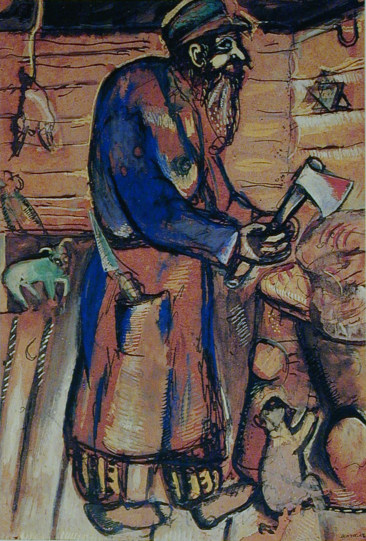 Butcher Grandfather 1910 - Chagall