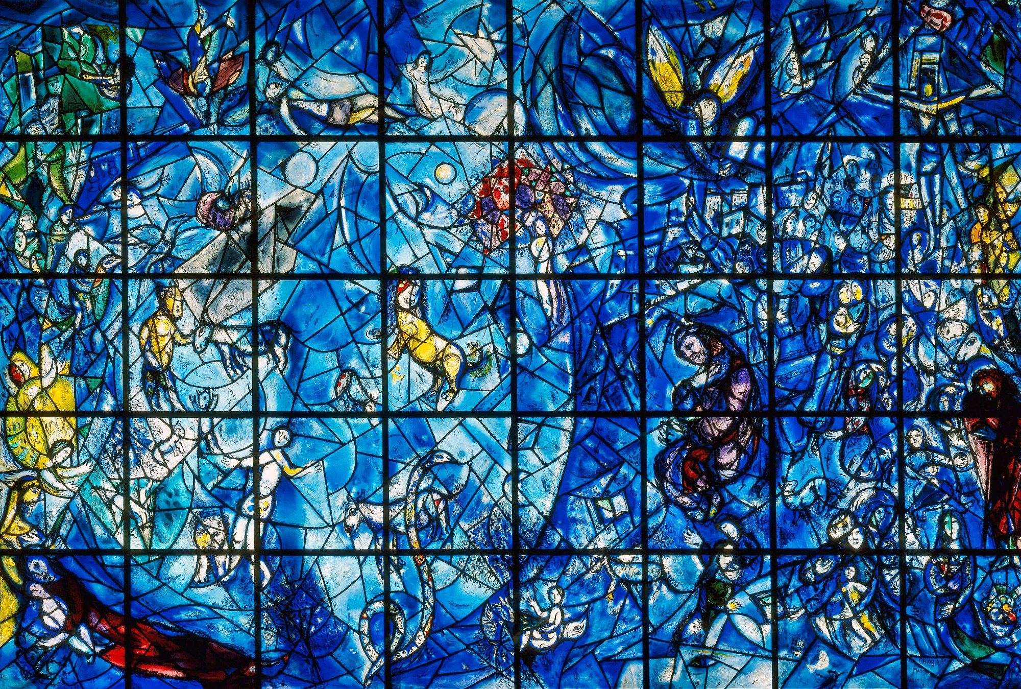 Chagall - Peace Window. Stained Glass UN - Photo Lois Conner