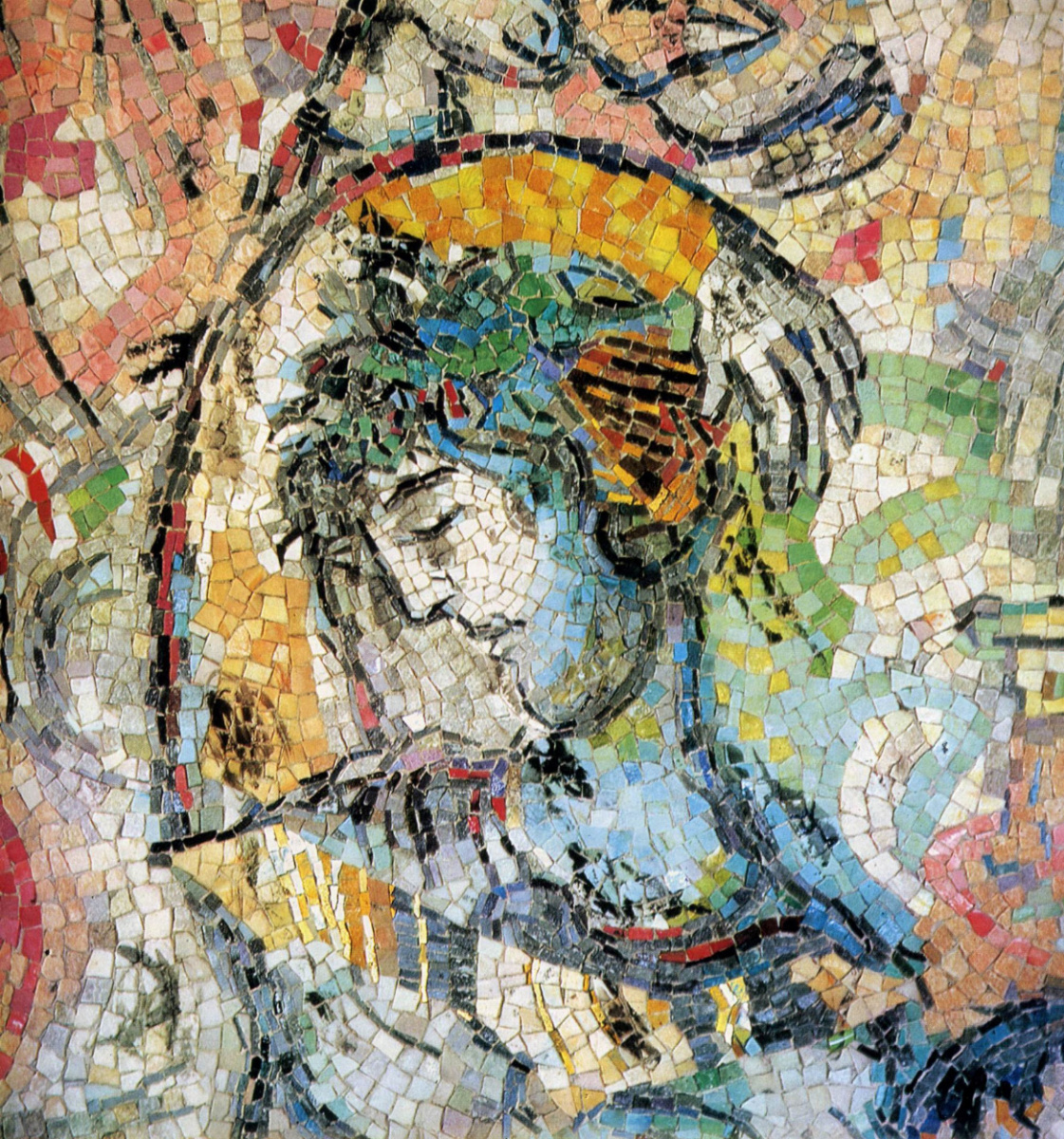 Covenant Odyssey. Mosaic (detail) by Marc Chagall