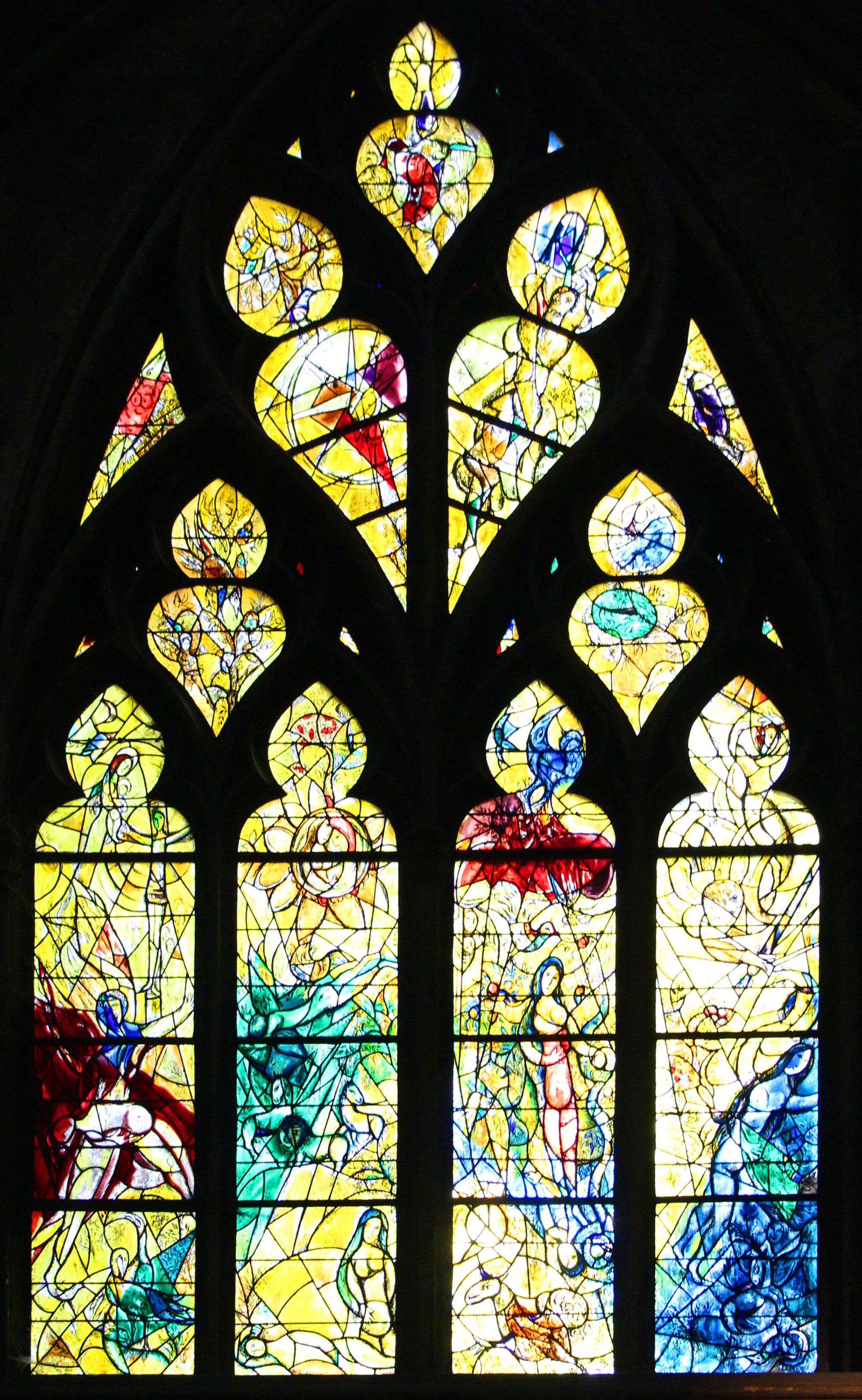 Garden of Eden Church Window Metz Cathedral - Marc Chagall