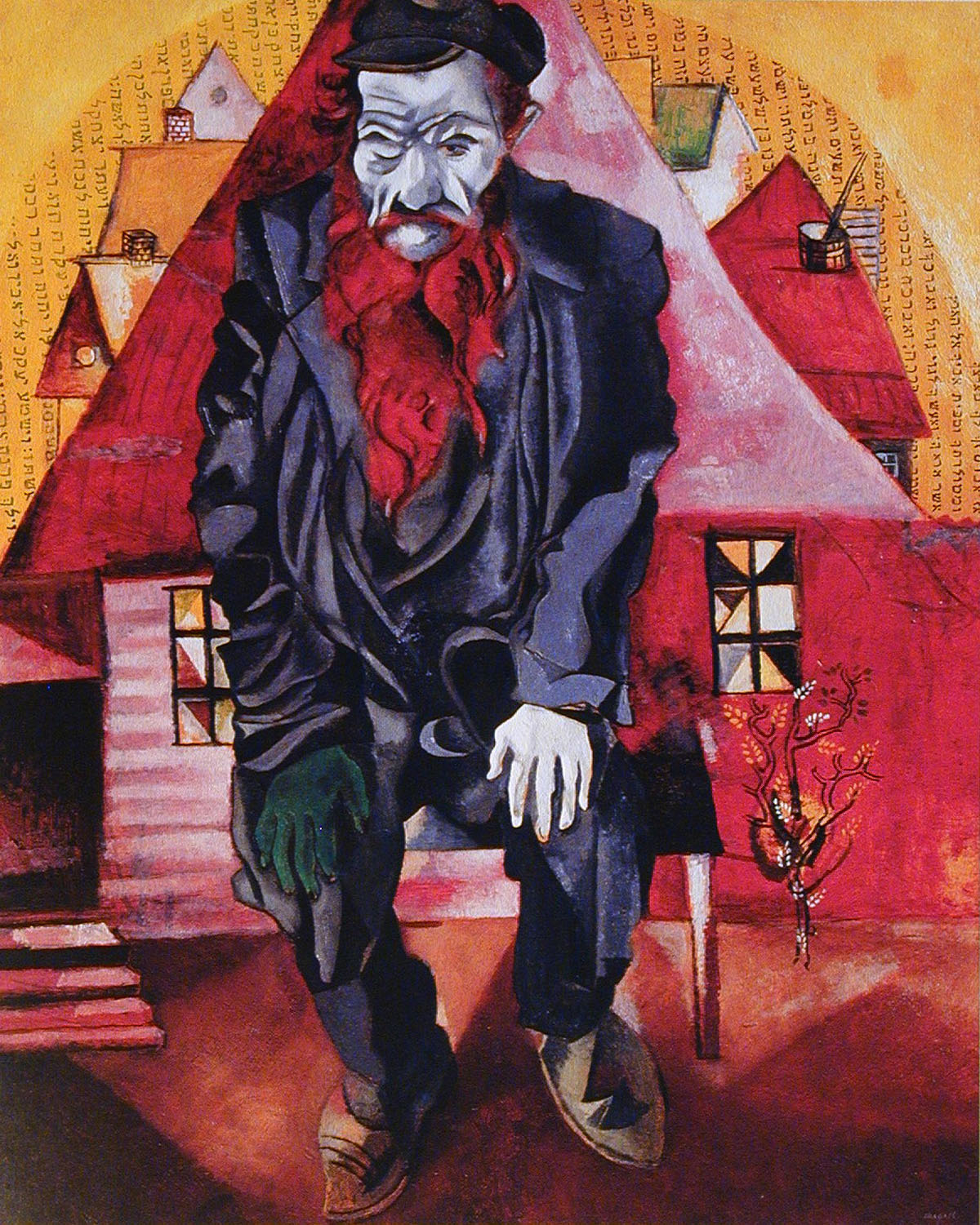 Jew in Bright Red (1915) Chagall-The State Russian Museum