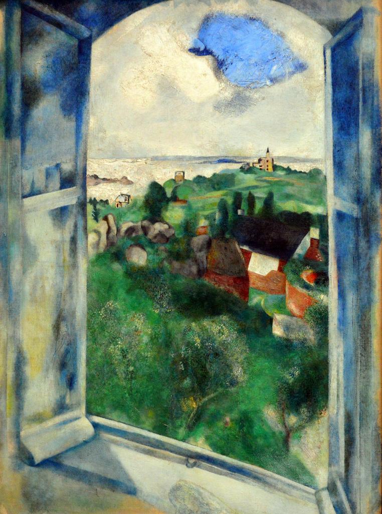 La fenêtre sur l'Île-de-Bréhat.