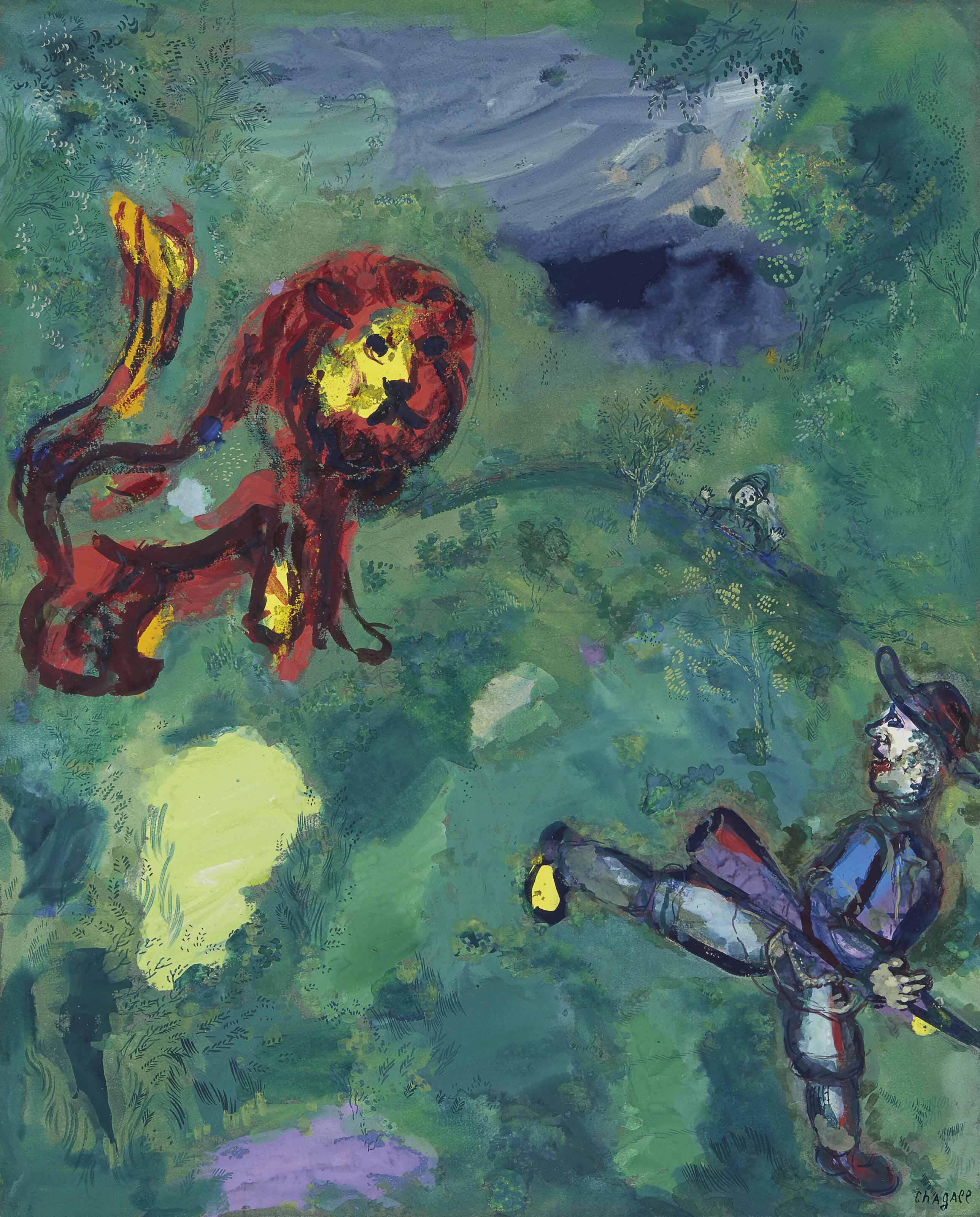 Le lion et le chasseur (Fables de La Fontaine)