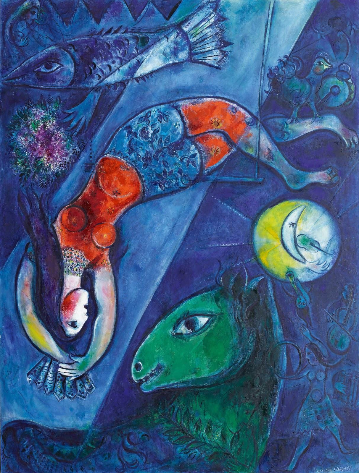 The Blue Circus - Marc Chagall