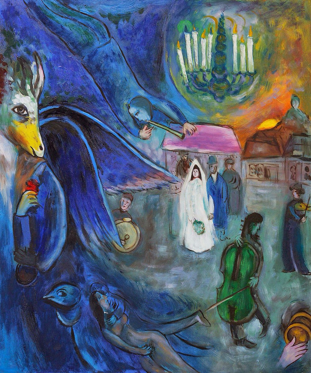 The Wedding Candles 1945 - Marc Chagall