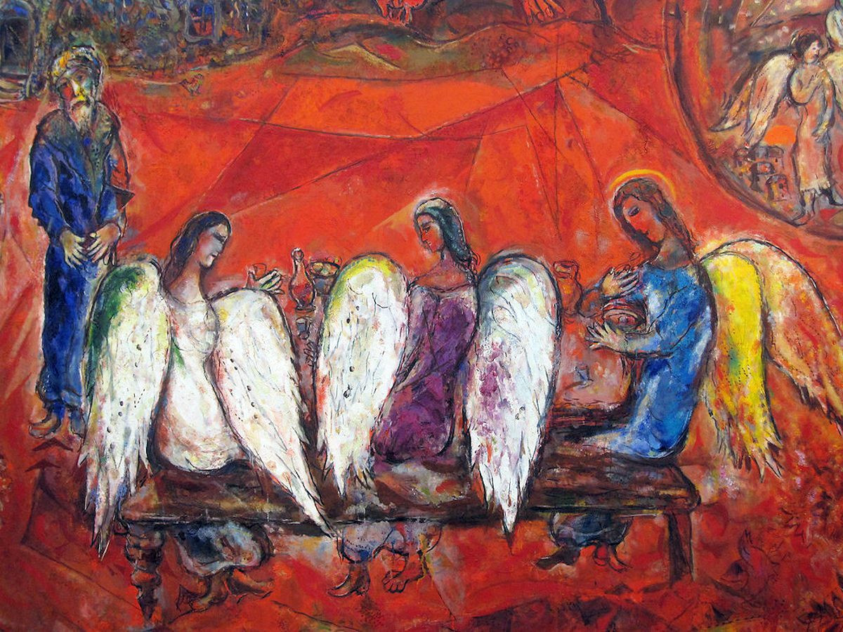 marc-chagall-abraham-and-the-three-angels-1960